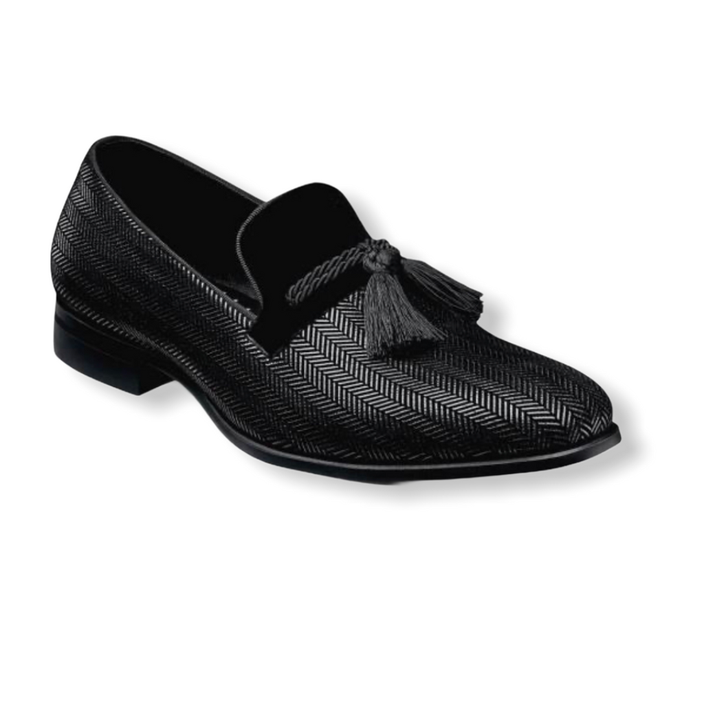 STACY ADAMS: Sonata Herringbone Tassel Slip On 25390 - On Time Fashions Tuscaloosa