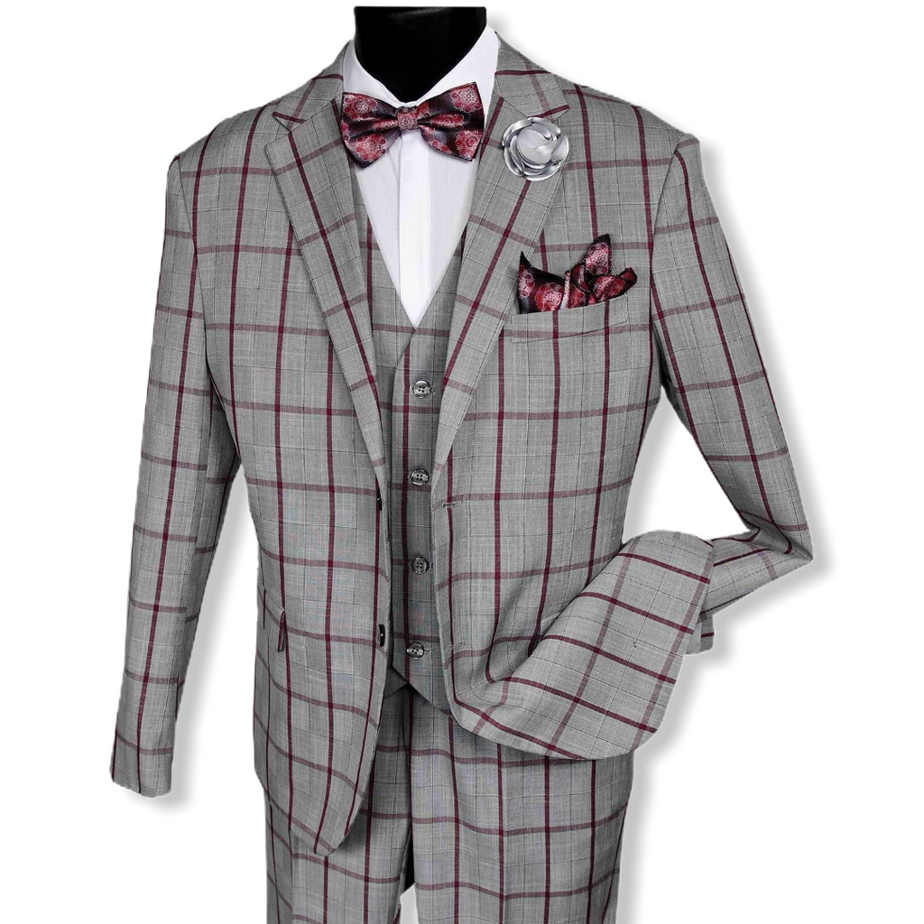 FALCONE: 9224 Bud Vested 3pc Suit - On Time Fashions Tuscaloosa