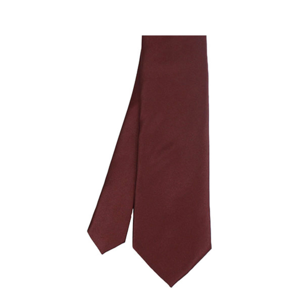 Stacy Adams Solid Burgundy Tie and Hanky - On Time Fashions Tuscaloosa