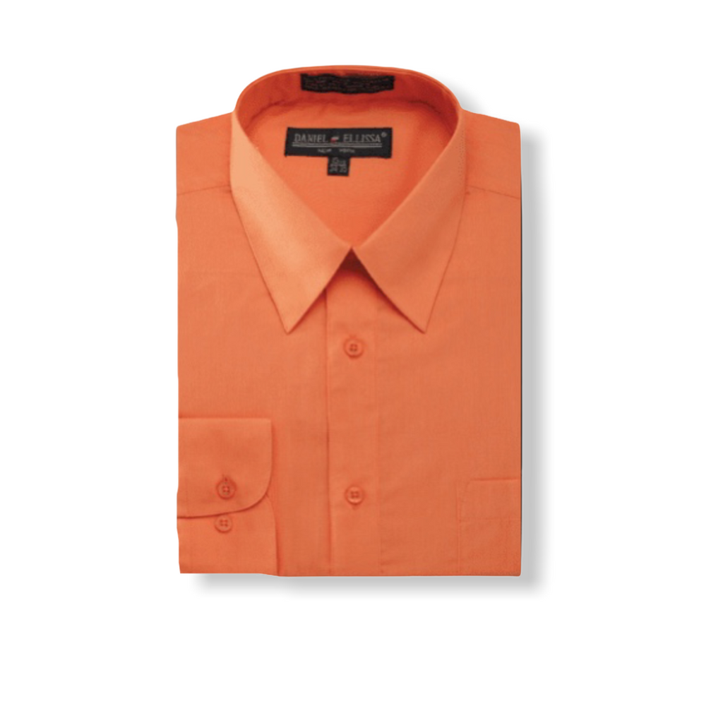 DE Orange Dress Shirt - On Time Fashions Tuscaloosa