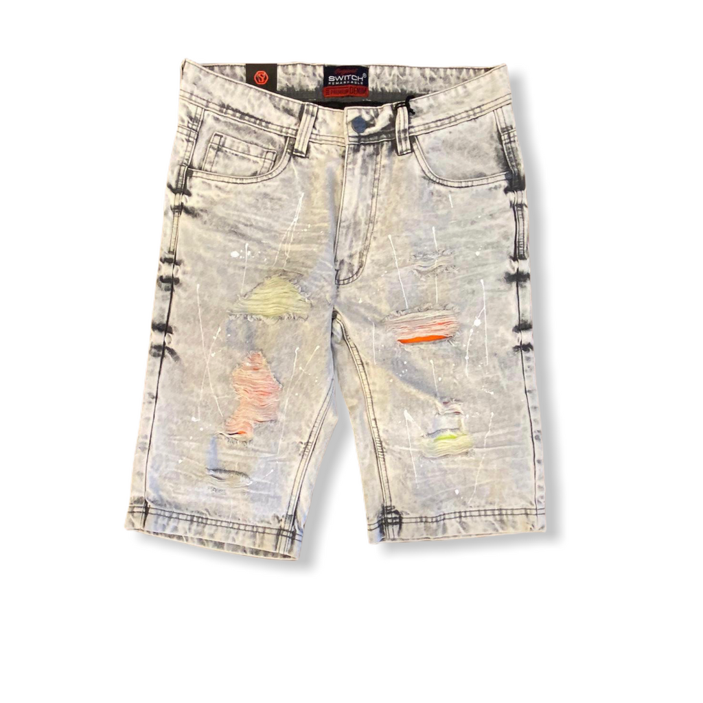 SWITCH: Rip & Repair Denim Short SS0703 - On Time Fashions Tuscaloosa