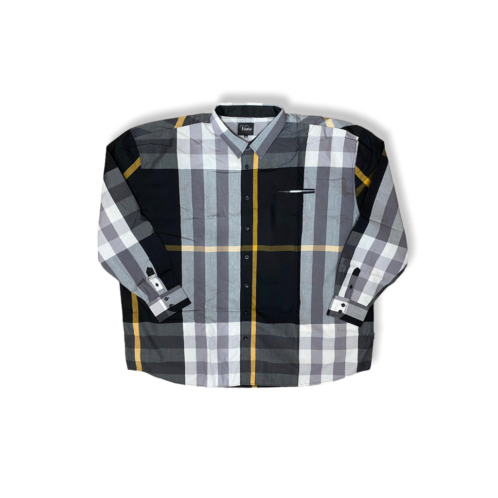 VENO: L/S Plaid Button Down V1835 - On Time Fashions Tuscaloosa