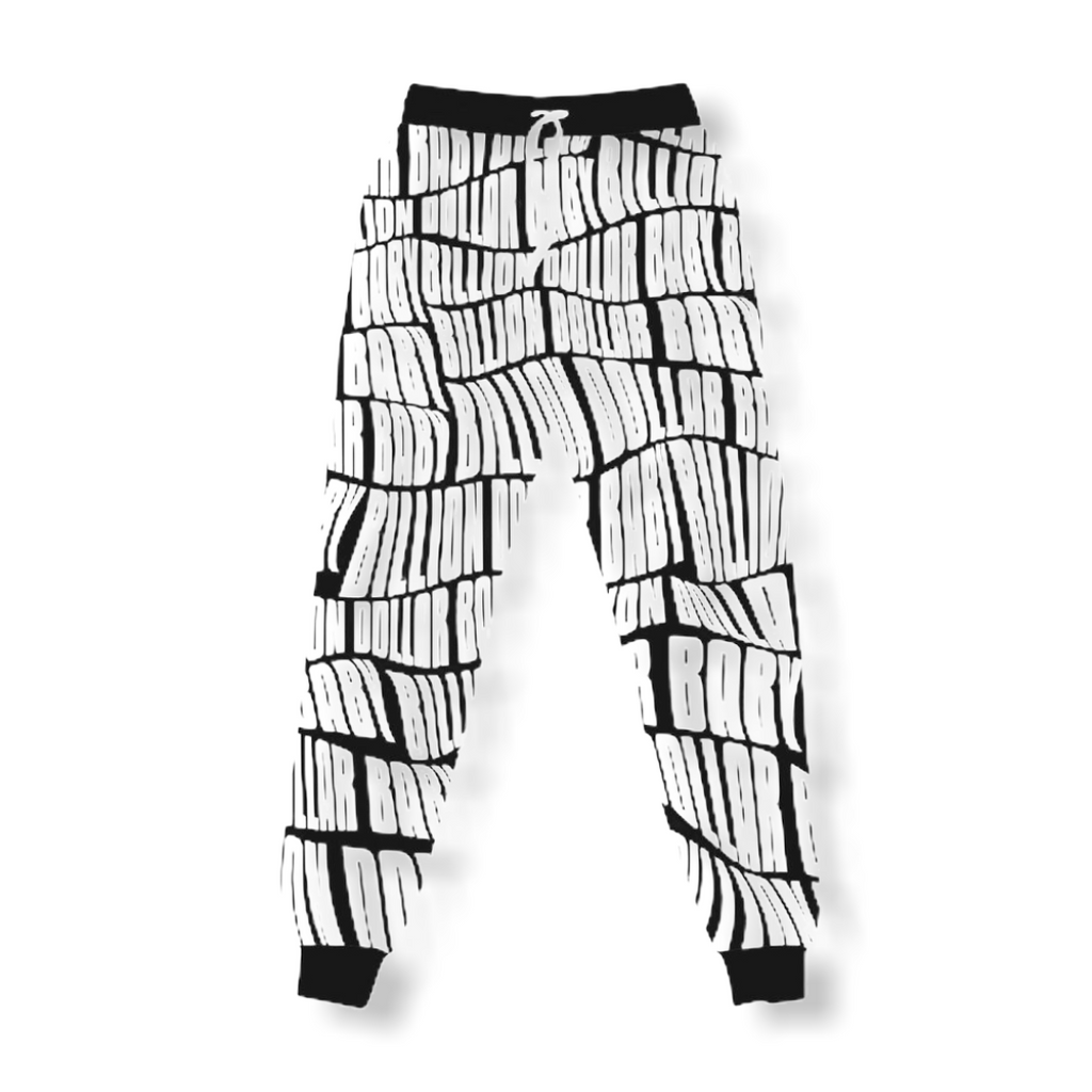 BILLION $ BABY: All Over Print Joggers - On Time Fashions Tuscaloosa