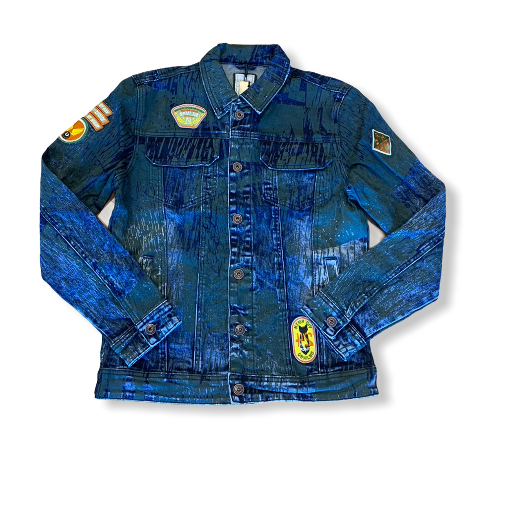 DREAMLAND: Conflict Denim Jacket D2010O0367 - On Time Fashions Tuscaloosa