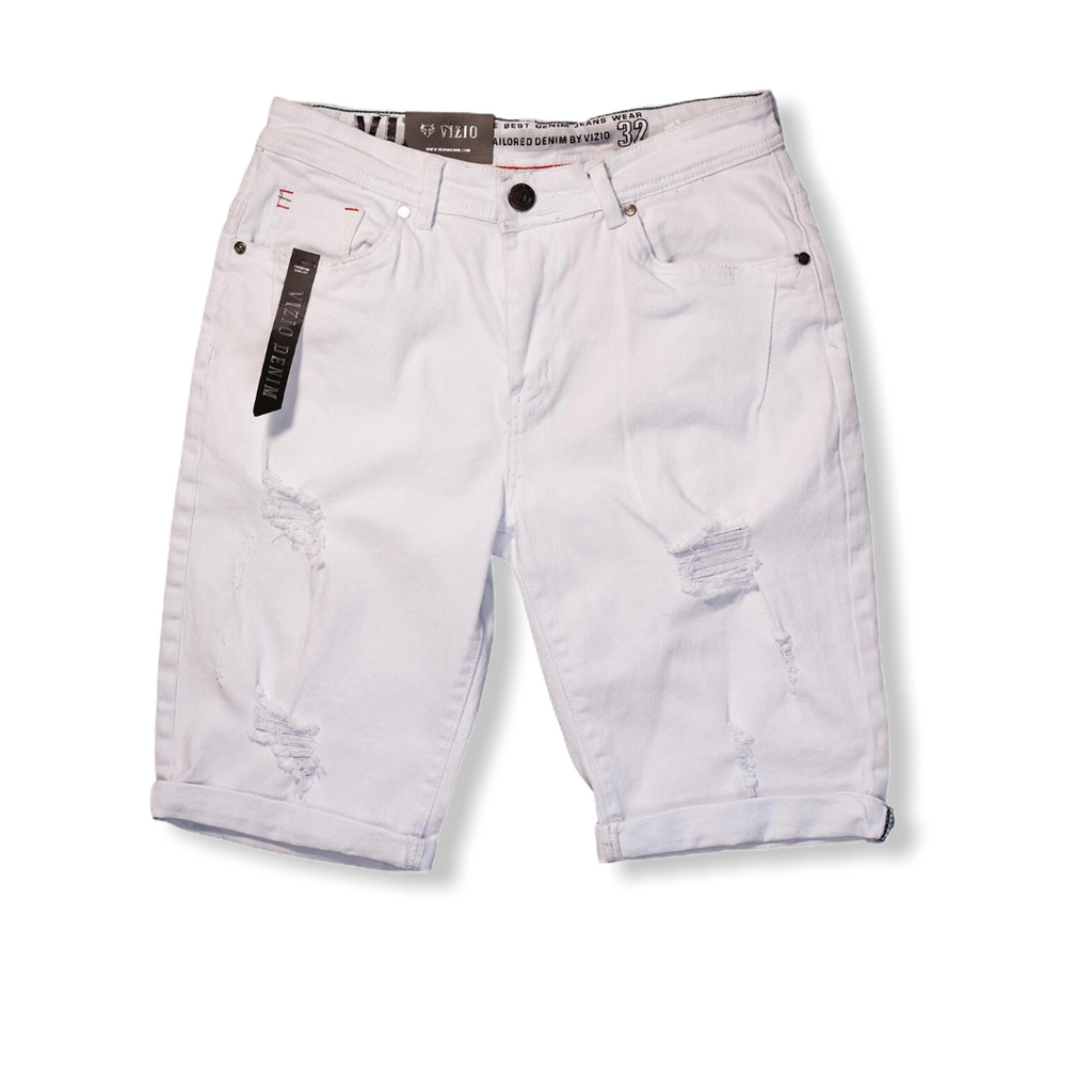 VIZIO: White Denim Short 306-4125 - On Time Fashions Tuscaloosa