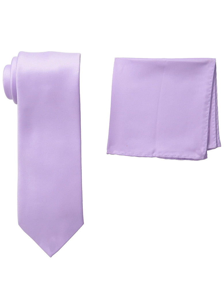 Stacy Adams Solid Lavender Tie and Hanky - On Time Fashions Tuscaloosa