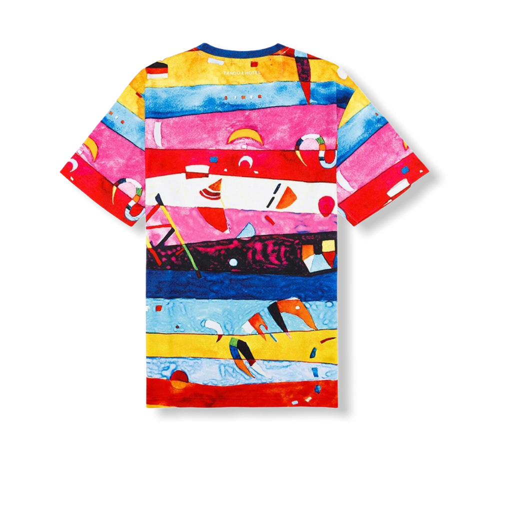 TANGO HOTEL: Kandinsky Linear All Over Tee THB1410TE - On Time Fashions Tuscaloosa