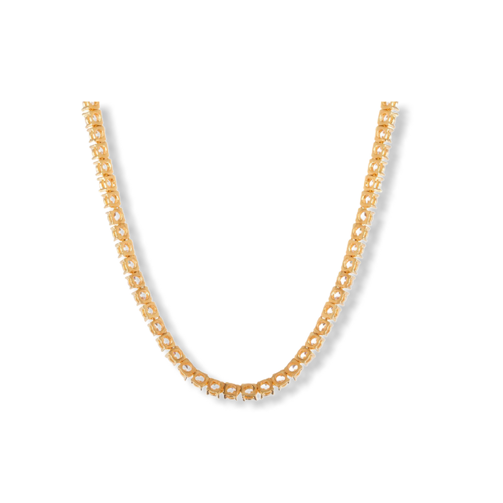 KING ICE: 5mm 14K Gold Single Row Tennis Chain - On Time Fashions Tuscaloosa