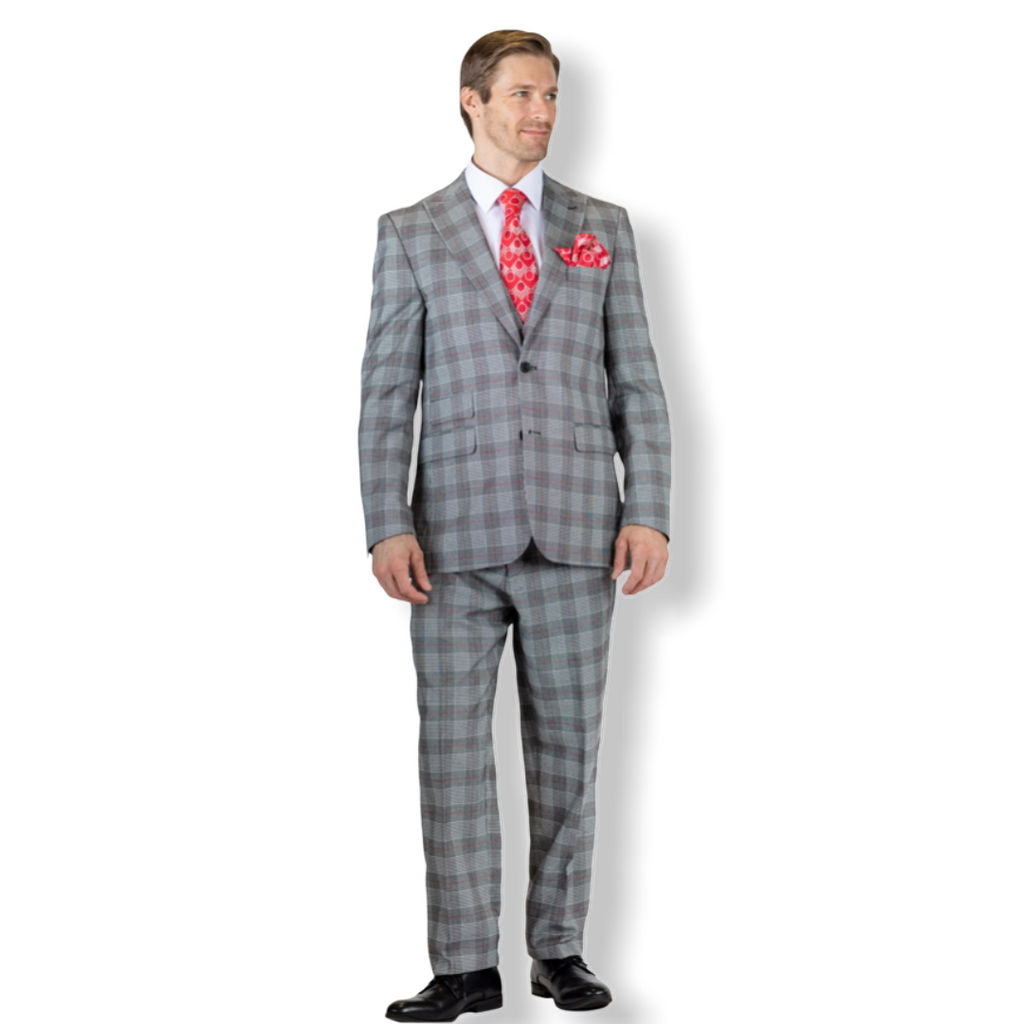 Falcone Bart Revo 3pc. Suit 9154 - On Time Fashions Tuscaloosa