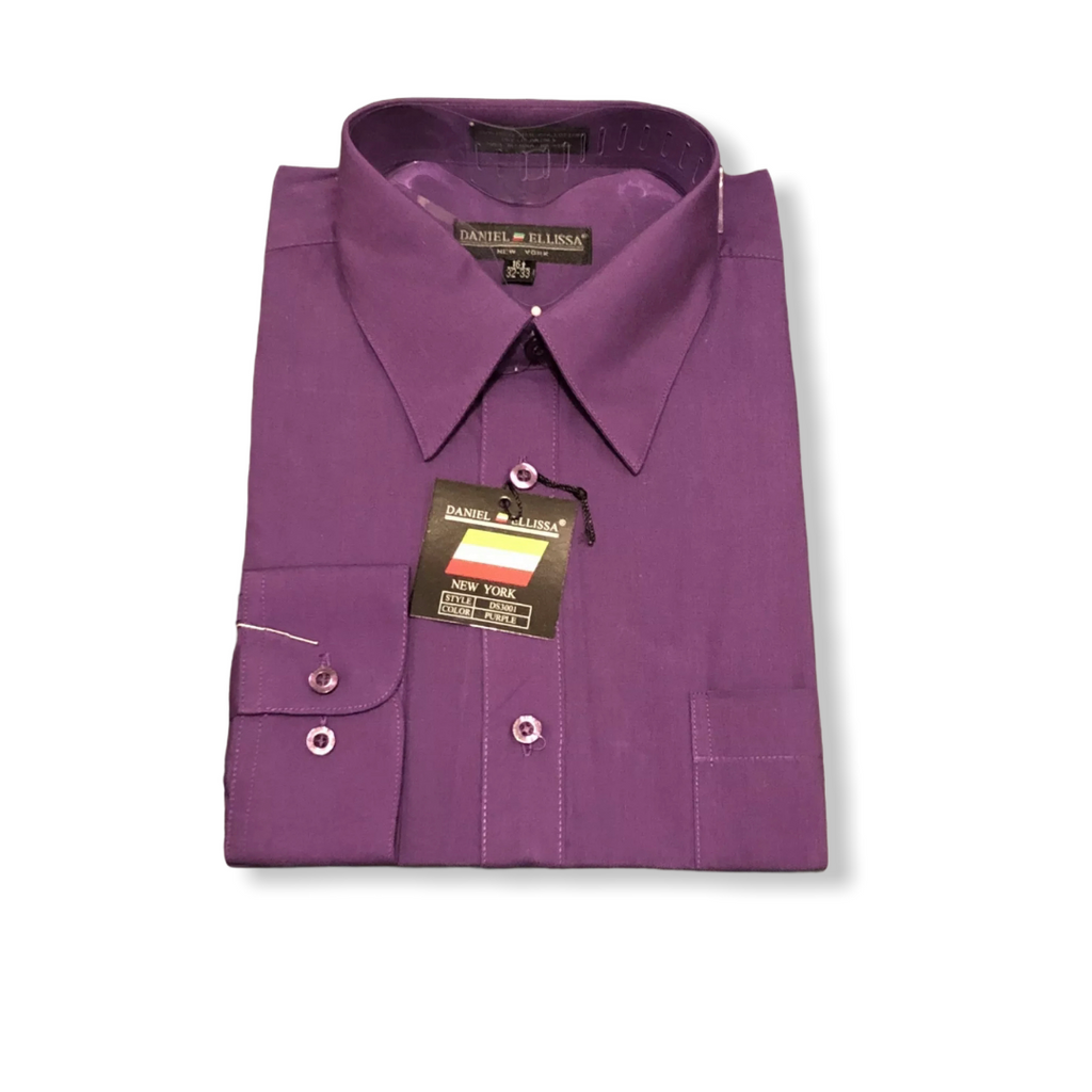DE Purple Dress Shirt - On Time Fashions Tuscaloosa