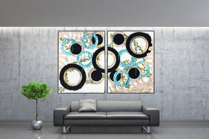 Original Contemporary Painting - Collaborate - set of two