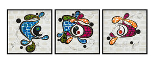 Original Contemporary Art - Diversity - set of three