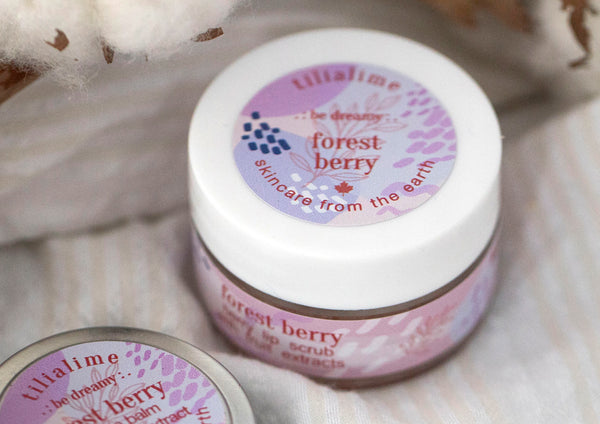 Forest Berry lip scrub - TiliaLime