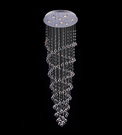 "Saint Mossi 24"" Wide Raindrop Chrome Crystal Chandelier Lighting"