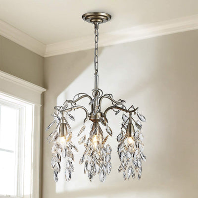 "Saint Mossi 18"" Raindrop 4-Light Crystal Chandelier"