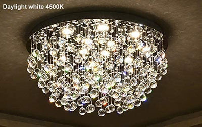 "Saint Mossi 28"" Raindrop 12-Light Crystal Chandelier"