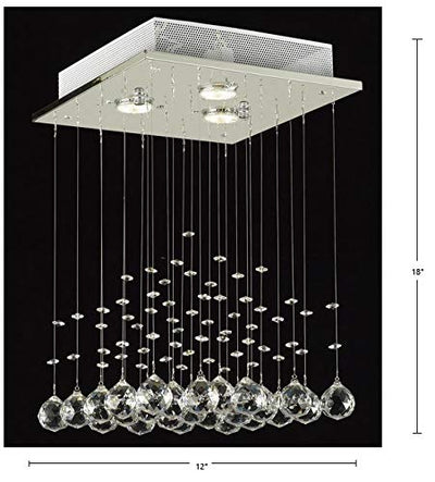 "Saint Mossi 12"" Wide Chrome Crystal Chandelier Lighting"