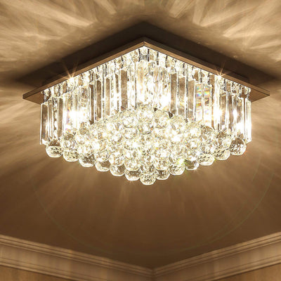 "Saint Mossi 16"" Wide Chrome 9-Light Crystal Chandelier"