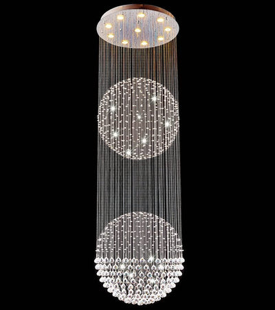 "Saint Mossi 83"" Raindrop 10-Light Crystal Chandelier"