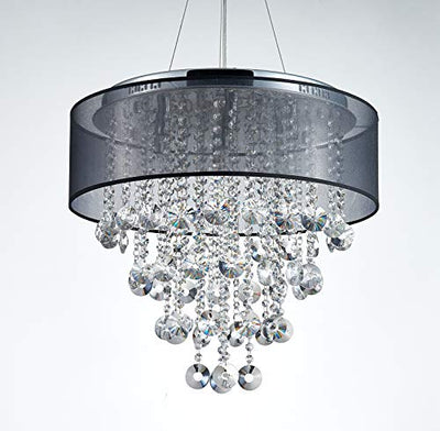 "Saint Mossi 22"" Wide Chrome Crystal Chandelier Lighting"