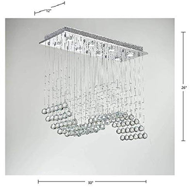"Saint Mossi 30"" Wide Chrome Crystal Chandelier Lighting"