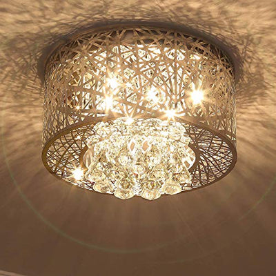 "Saint Mossi 17"" Wide Chrome Crystal Chandelier Lighting"