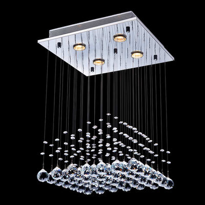 "Saint Mossi 16"" Wide Raindrop Chrome Crystal Chandelier Lighting"