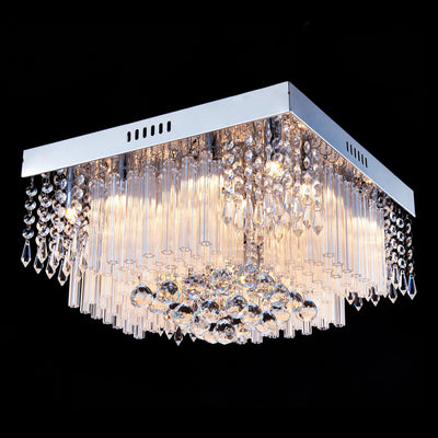"Saint Mossi 16"" Wide Chrome Crystal Chandelier Lighting"