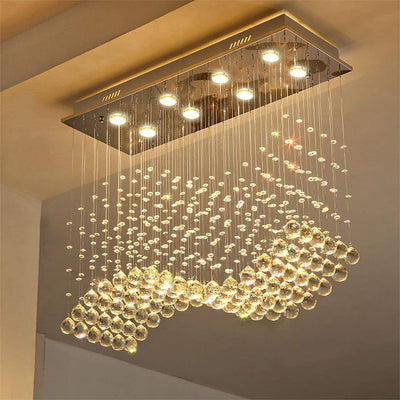 Saint Mossi Crystal Raindrop Chandelier Rooms