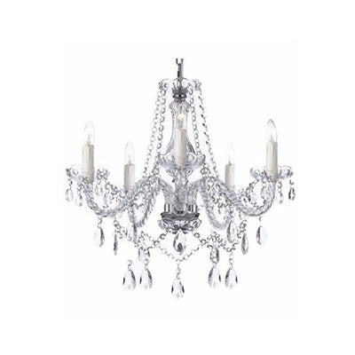 "Saint Mossi 28"" Wide Crystal 6-Light Chandelier Lighting"