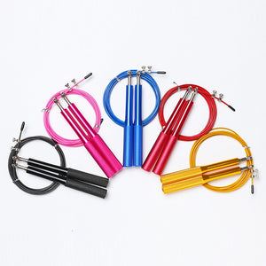 Adjustable Crossfit Training Jumping Rope With Aluminum Alloy Handle Fitness Equipment