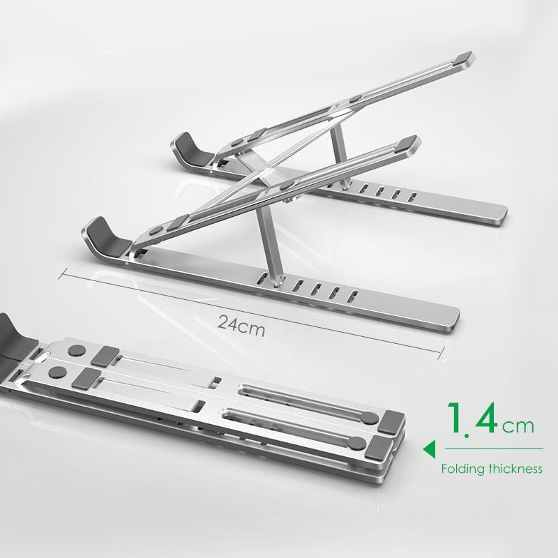Foldable Aluminium Alloy Holder Stand for MacBook Pro Notebook