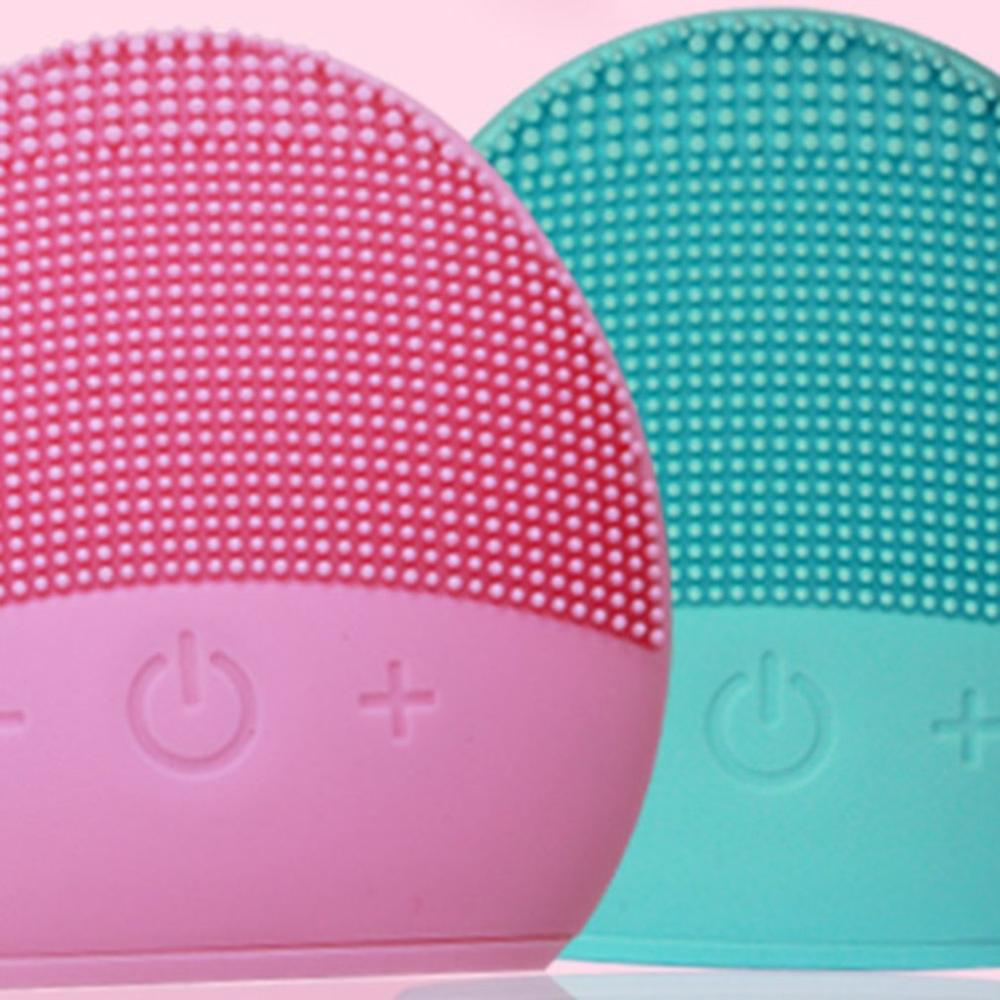 USB Silicone Deep Pore Facial Cleansing Waterproof Massage Brush