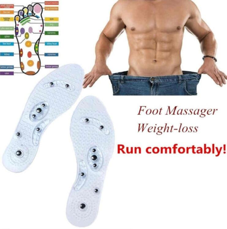 1Pair Shoe Gel Insoles Feet Comfort Pads Magnetic Therapy Health Care for Men