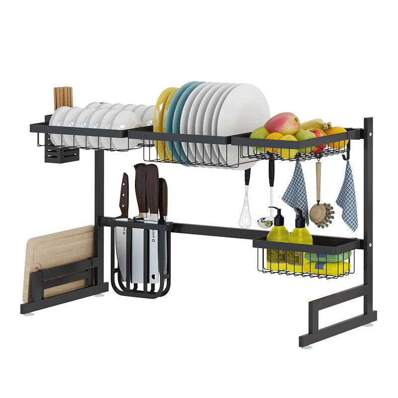 Black Stainless Steel Rack