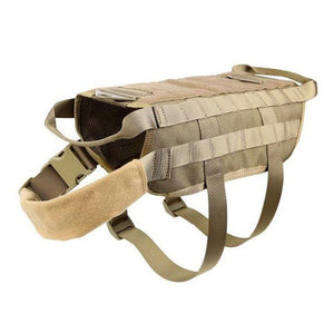 K9 Tactical Military Dog Adjustable Hunting Vest Harness, Waterproof.