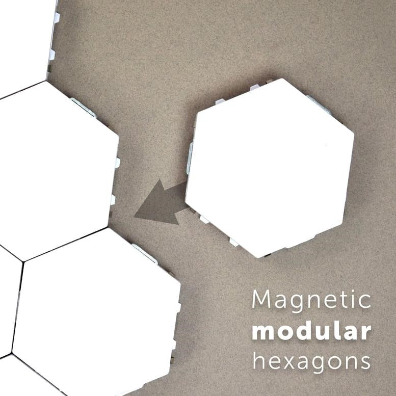 Hexagonal Quantum lamps, touch sensitive