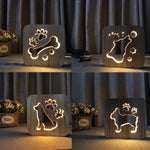 Wooden LED  Night Light for Kids