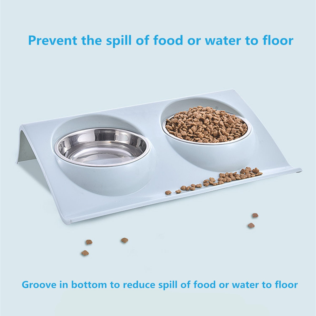 Stainless Steel Pet Double Bowl Cat/Dog Feeding Feeder