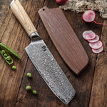 67-layer steel V gold 10 Damascus kitchen knife