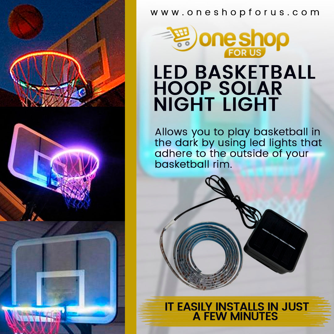 LED Basketball Hoop Solar Night Light