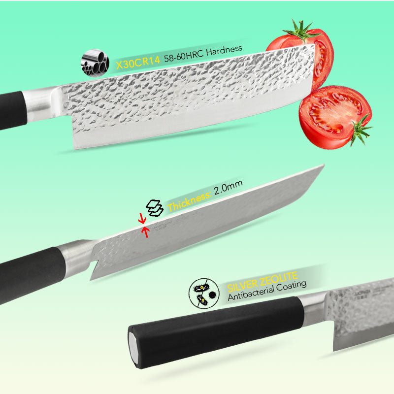 Japanese Style Chef knife Meat Cleaver, Fruit Paring