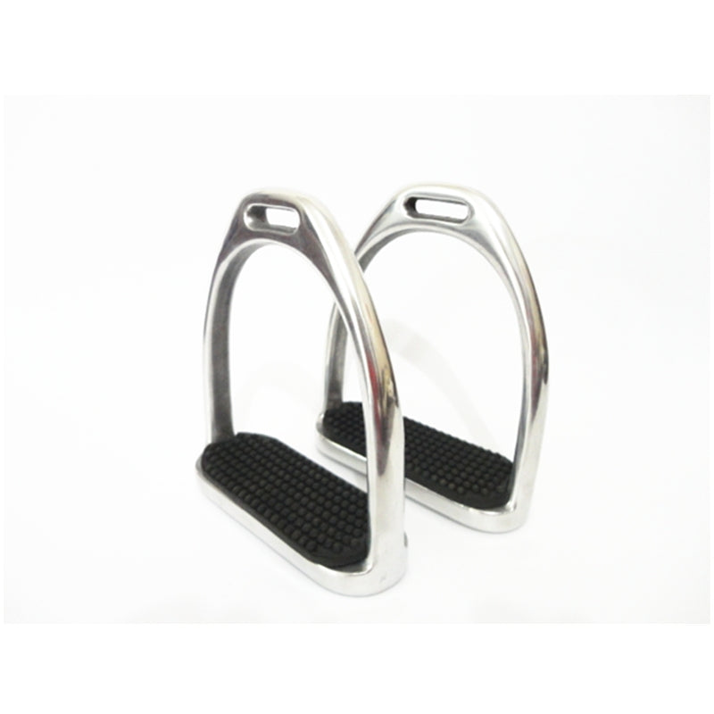 Aluminum Stirrup Irons with Black Pads