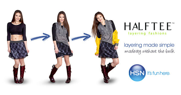 Crop Tops evolved to HALFTEE for Layering @halftee