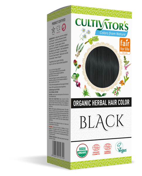 ORGANIC HERBAL HAIR COLOR BLACK - SHOP.CULTIVATOR.IN