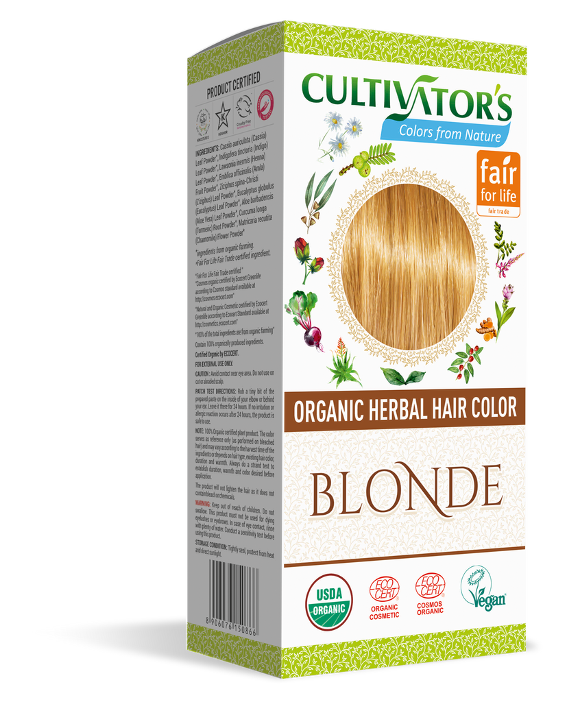 ORGANIC HERBAL HAIR COLOR BLONDE - SHOP.CULTIVATOR.IN