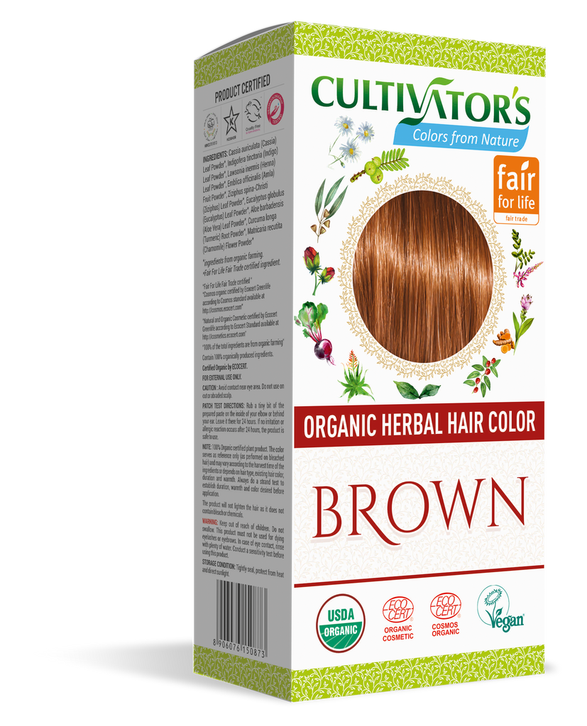 ORGANIC HERBAL HAIR COLOR BROWN