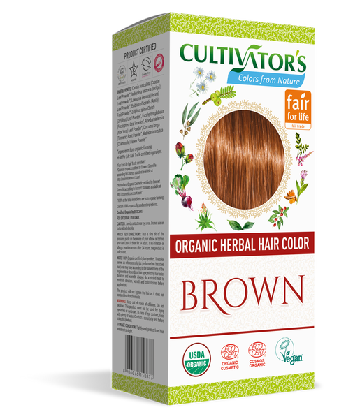 ORGANIC HERBAL HAIR COLOR BROWN - SHOP.CULTIVATOR.IN