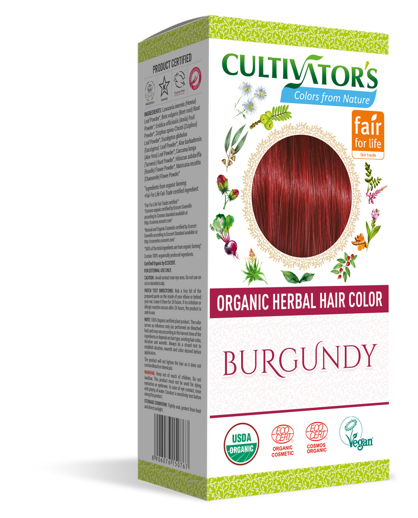 ORGANIC HERBAL HAIR COLOR BURGUNDY - SHOP.CULTIVATOR.IN