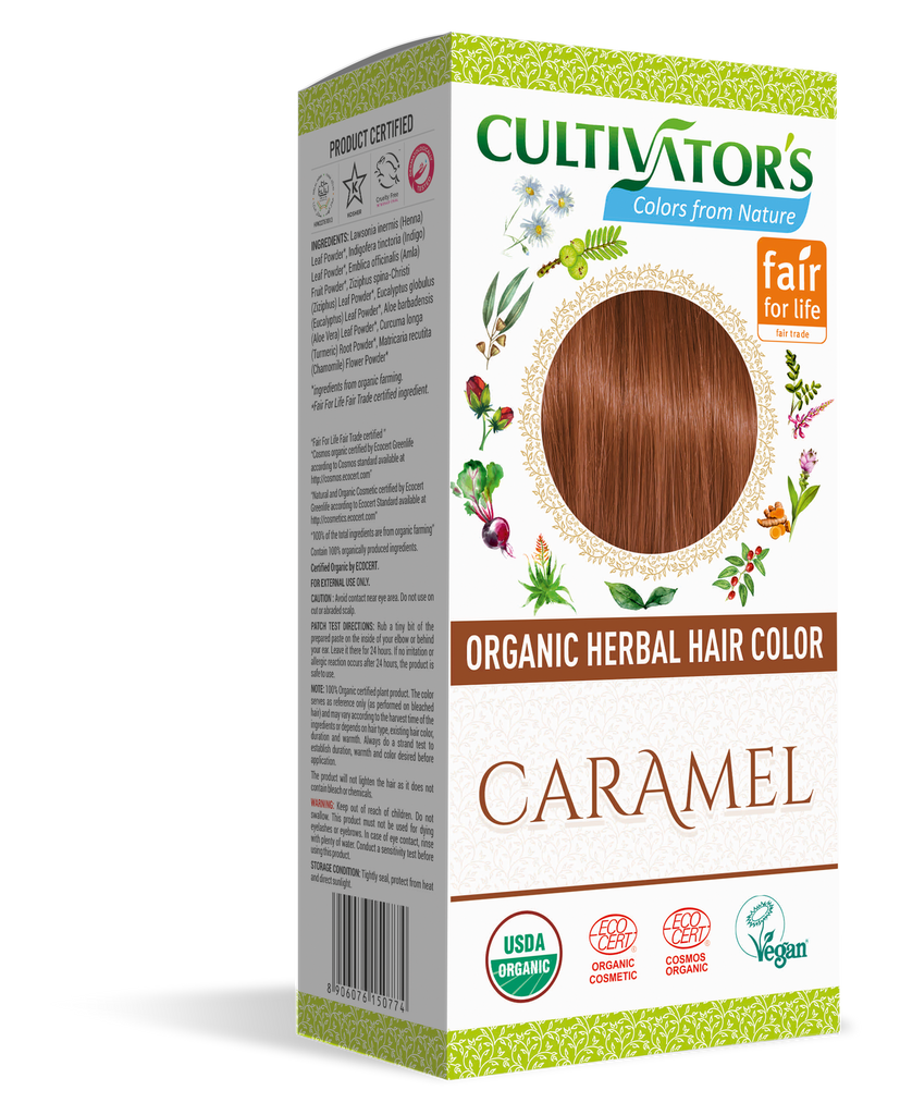 ORGANIC HERBAL HAIR COLOR CARAMEL - SHOP.CULTIVATOR.IN